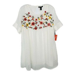 FOREVER 21 Dress Dukes of Dallas Floral Embroider
